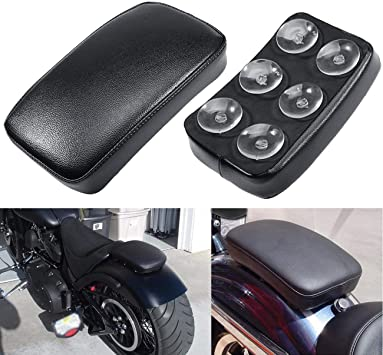 Motorcycle Unverisal Suction Cup Cushion Pillion Seat For Harley Cruiser Chopper Custom,#1