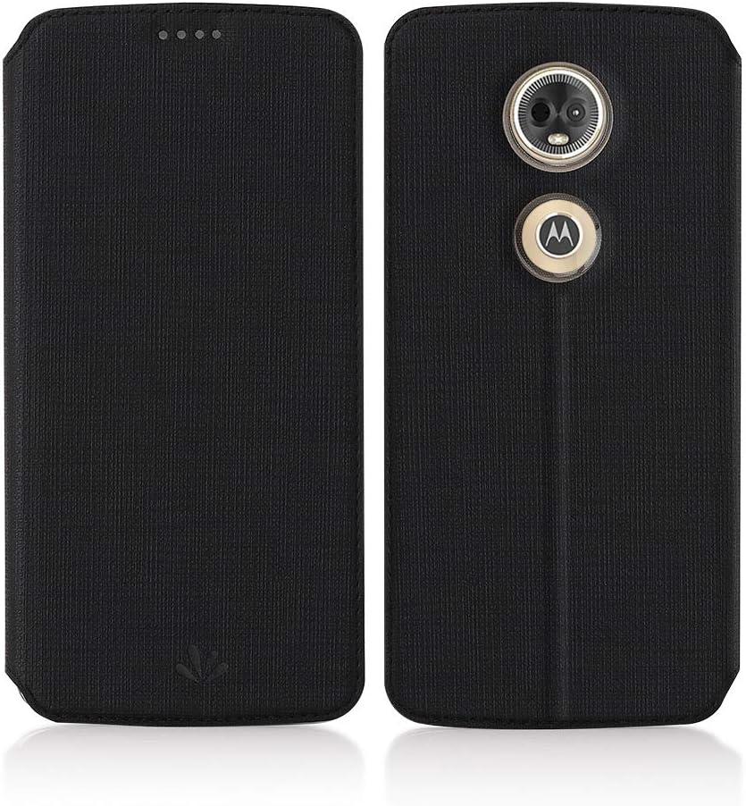 Eastcoo Vili Moto E5 Plus Funda de piel Moto E5 Plus Negro