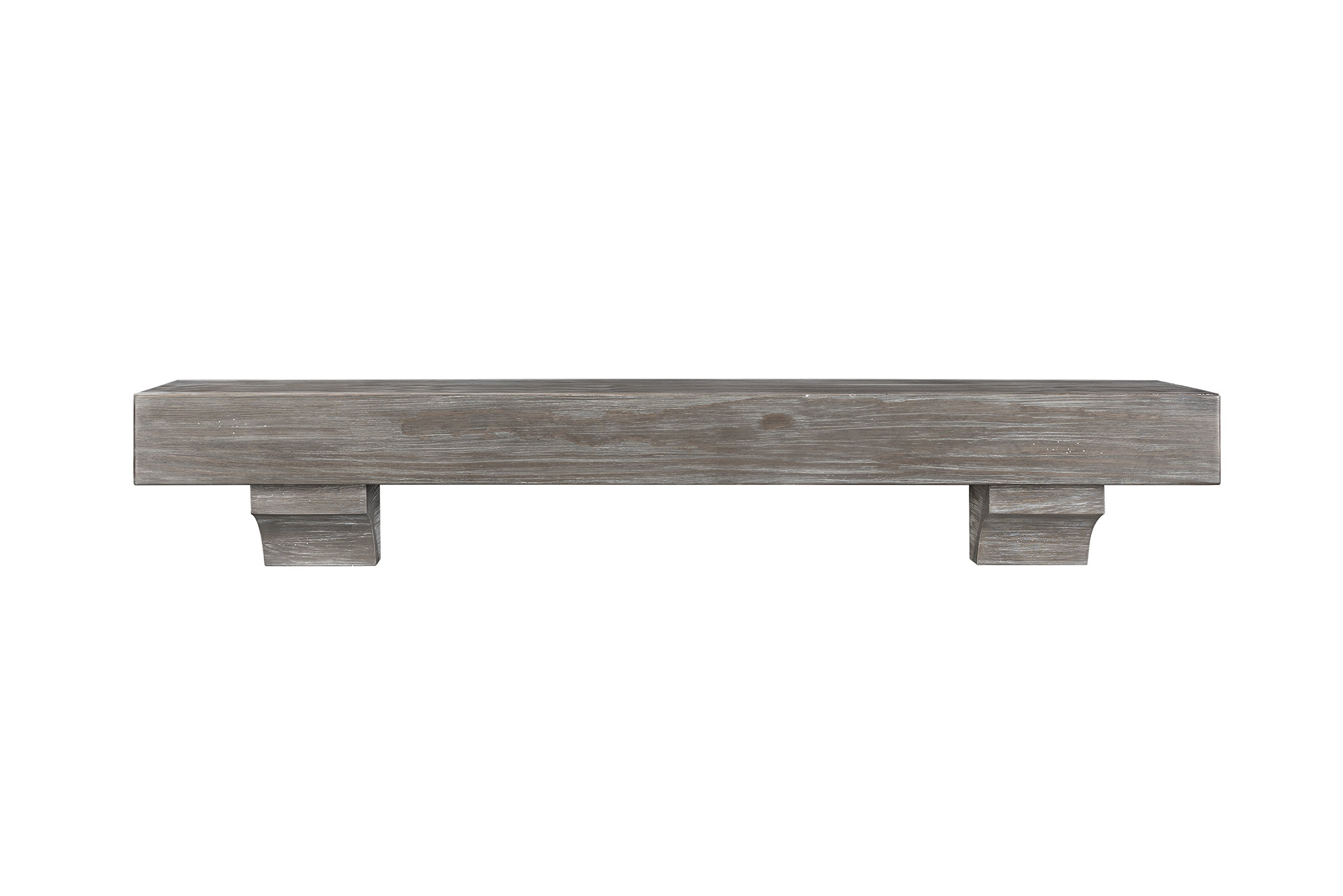 Pearl Mantels 412-48-27 Shenandoah Mantel, 48-Inch, Cottage Gray Distressed by Pearl Mantels