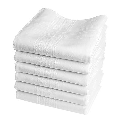 6 pañuelos blancos - Modelo