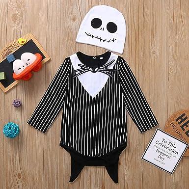 Pantalones Sombrero Ni/ños Ni/ñas Manga Larga Monos Regalo 0-24 Meses Murci/élago Calabaza Baby Mameluco Traje de Halloween Ropa 3pcs Bodys