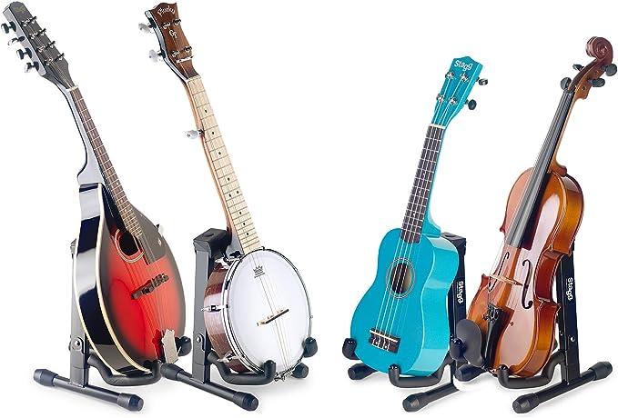 Stagg - Soporte plegable para ukelele, mandolina y violín: Amazon ...