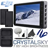 """DJI CrystalSky Monitor - 7.85"""" High Brightness with 2 Batteries, Dual Charger & Cleaning Bundle"""