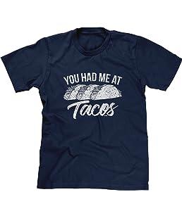 Blittzen Mens You Had Me at Tacos, L, Navy Blue