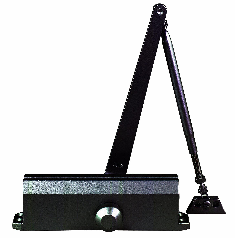 Global Door Controls Compact Commercial ADA Door Closer in Duronotic with Adjustable Spring Tension - Sizes 1-4