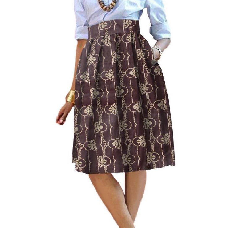YUNY Womens Dashiki Mini Summer High Waisted Pocket fe A Line Skirts 1 S