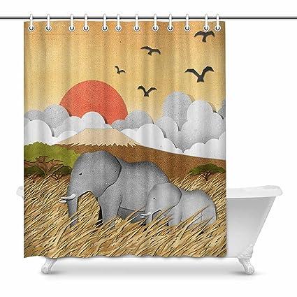 Amazon Com Interestprint Elephant Bathroom Accessories Shower