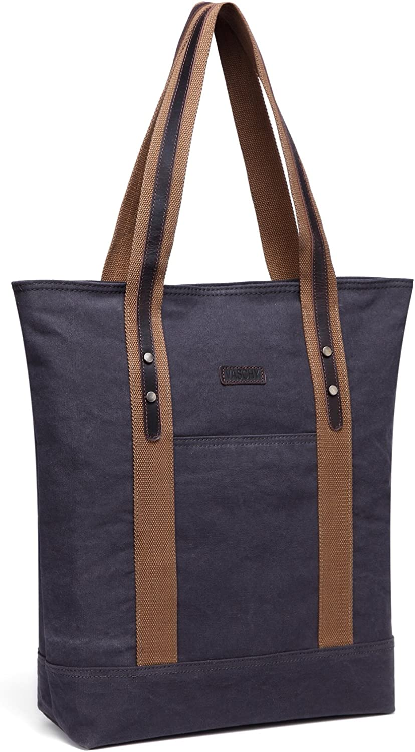 Leather Canvas ToteVaschy...