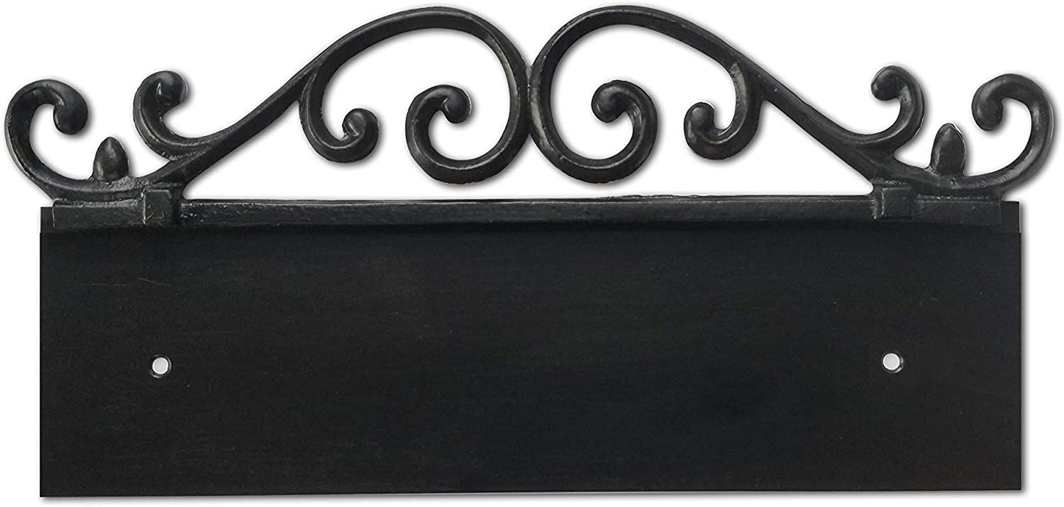 NACH KA-OLDWORLD-3 Address Sign Plaque for House Numbers, Old World, Cast Iron, 3