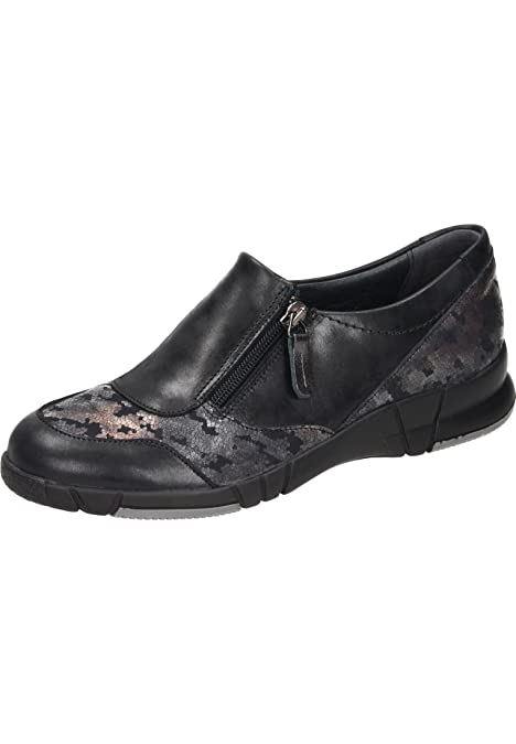 Comfortabel - Mocasines de Cuero para Mujer, Color Negro, Talla 37 EU
