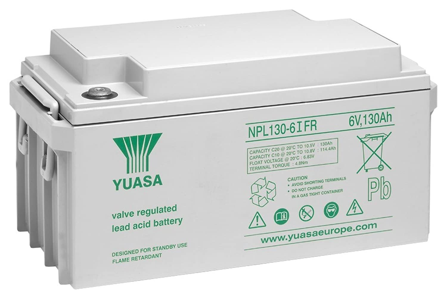 Yuasa Lead Acid Battery Npl 130 6ifr 10 12 Years 6v Amazonco For Power Supply We Can Use Batteries Or Regulated Electronics