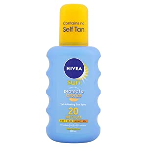Nivea Sun Protect and Bronze Tan Activating Sun Spray Medium SPF 20 - 200ml