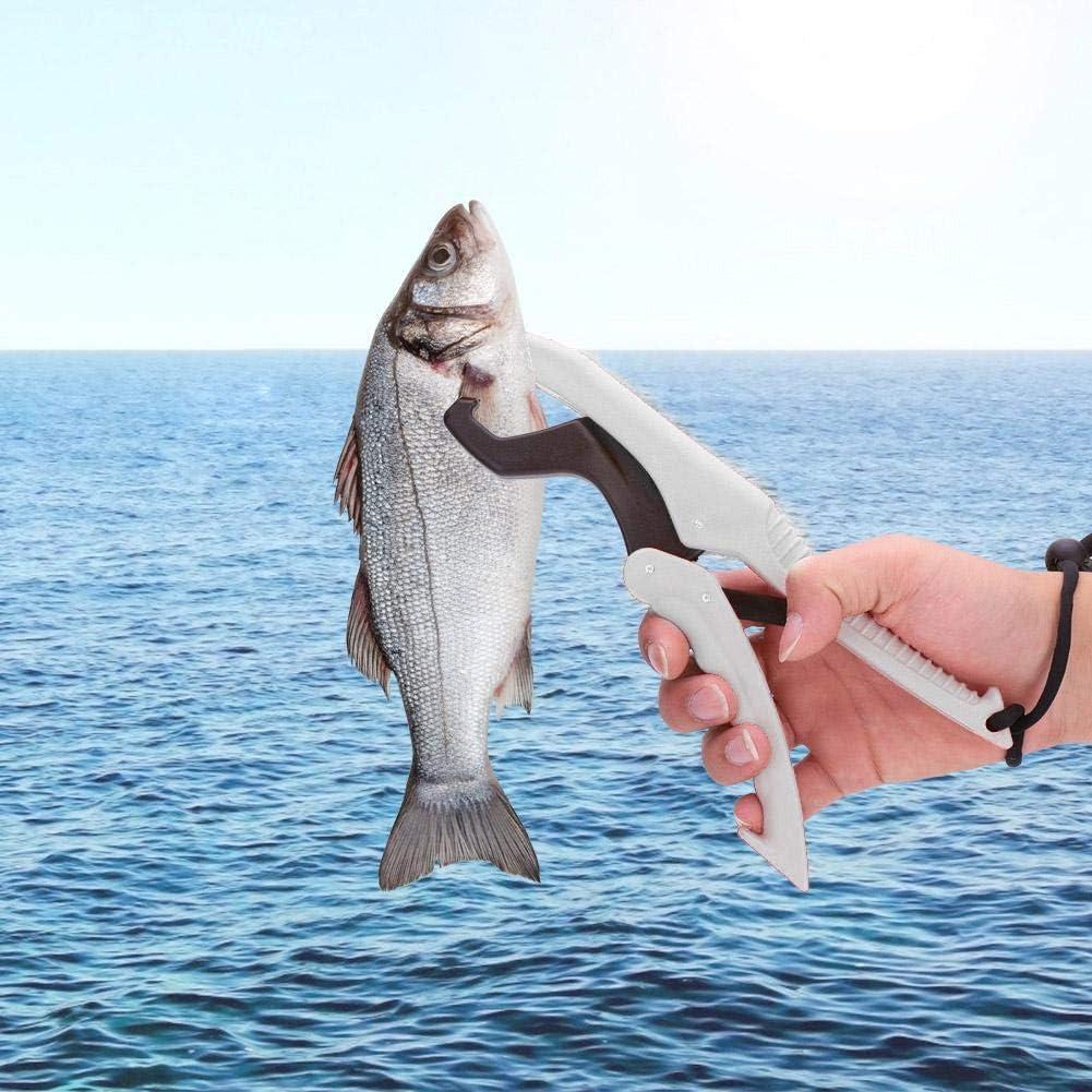 Vbestlife Schwimmende Kunststoff-Angelzange Fish Lip Grip-Zange Grabber Keeper Fishing Tackle Schwimmende Kunststoff-Lippenzange mit Lanyard