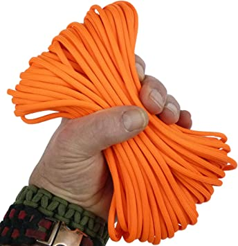 550 Paracord New Fire /& Ice  100 FT USA made USA SELLER same day shipping
