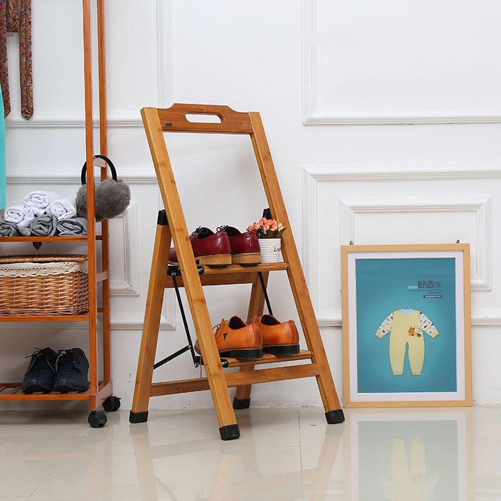 Household Ladder Folding Ladder Ladder Solid Wood Ladder Widening Thicker