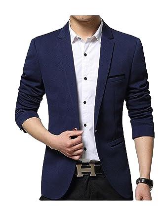 160ddca05fff4c SWISSWELL Herren Slim Fit Sakko Blazer Anzug Jacke EIN-Knopf Casual 2018  Collection Männer Freizeit