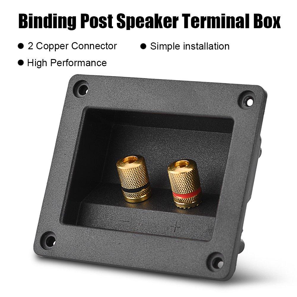 sala o altri luoghi che si desidera impostare un altoparlante hotel Eboxer Altoparlante Terminal Box Speaker Box Terminale Binding Post Gold Banana Binding Post per casa