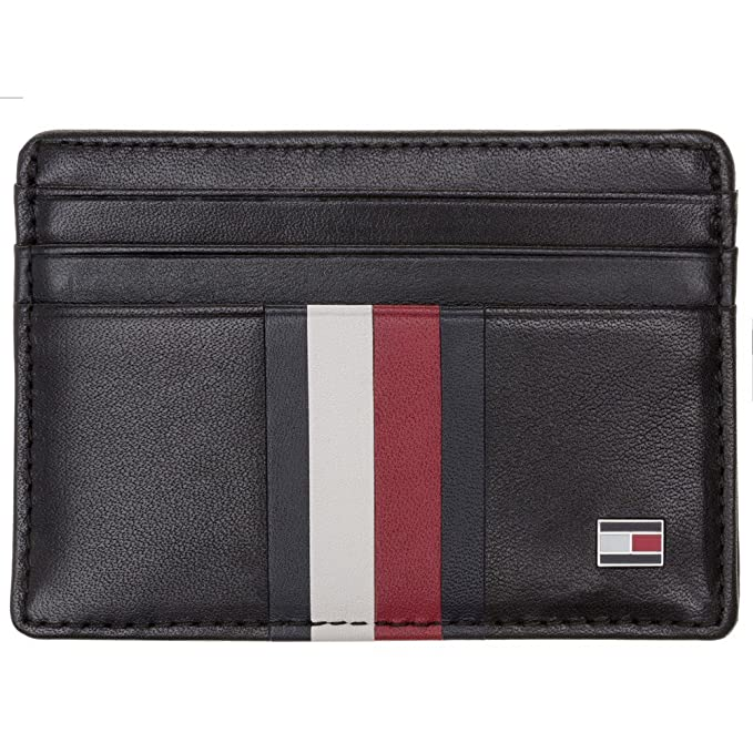 Tommy Hilfiger Card Holder Hombre Wallet Negro: Amazon.es ...