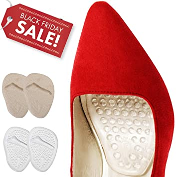 37d26cc3d5 Image Unavailable. Image not available for. Color: Ball Of Foot Support  Cushions,Massage Metatarsal Foot Pads Pain Relief Forefoot Insoles ...