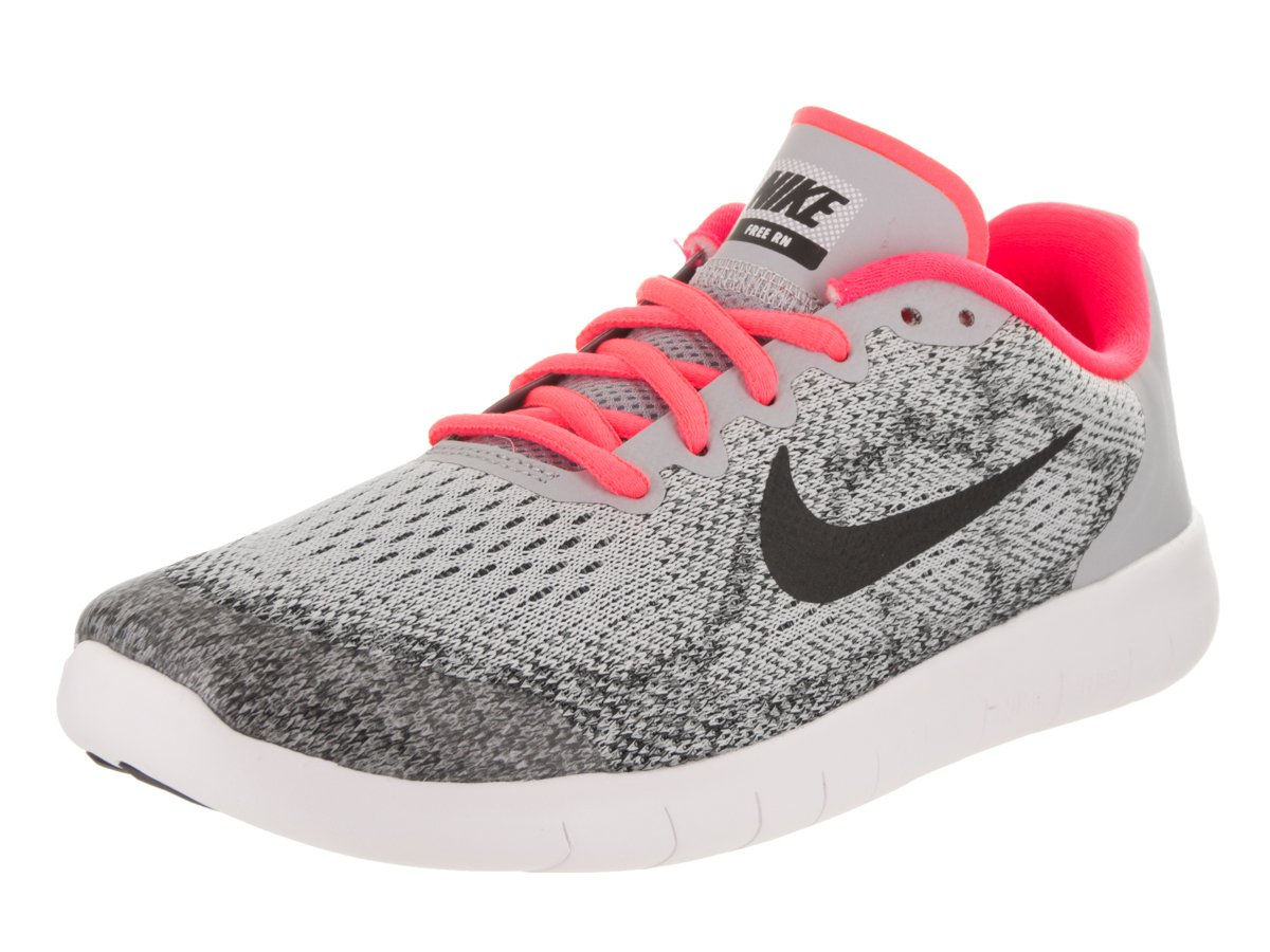 630d634dbeb479 Galleon - NIKE Kids Free RN 2017 (GS) Wolf Grey Black Racer Pink Running  Shoe