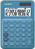 カシオ 電卓 12桁 (レイクブルー)CASIO カラフル電卓 ミニジャストタイプ MW-C20C-BU
