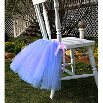 Amazon Com Tulle Tutu Table Chair Skirt For Wedding Birthday Party