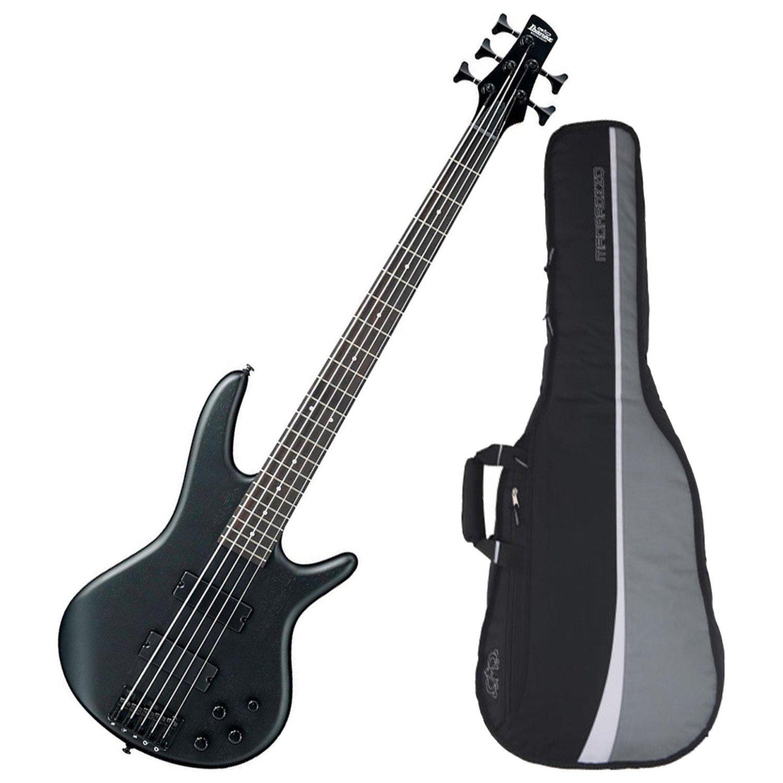 Ibanez Gio GSR205 5-String Electric Bass (Weathered Black) w/ Gig Bag GSR205 BUNDLE