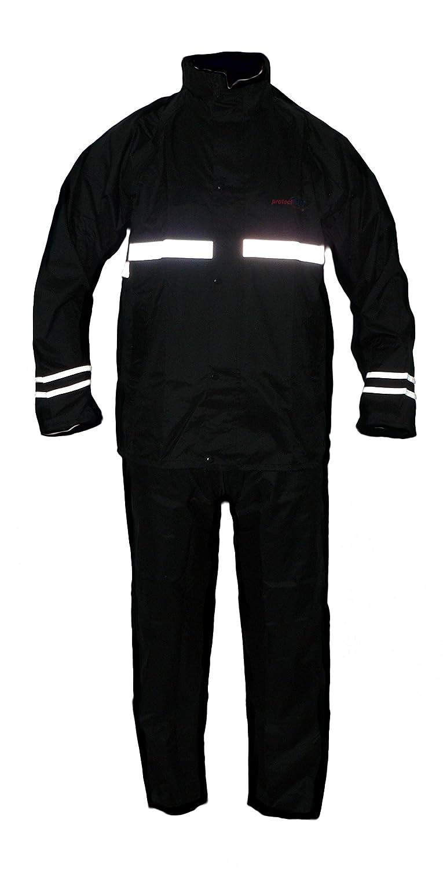 Protectwear combinaison Impermé able de moto, combinaison de pluie, 2 piè ces, noir, RK, Taille: L 2 pièces RK-L
