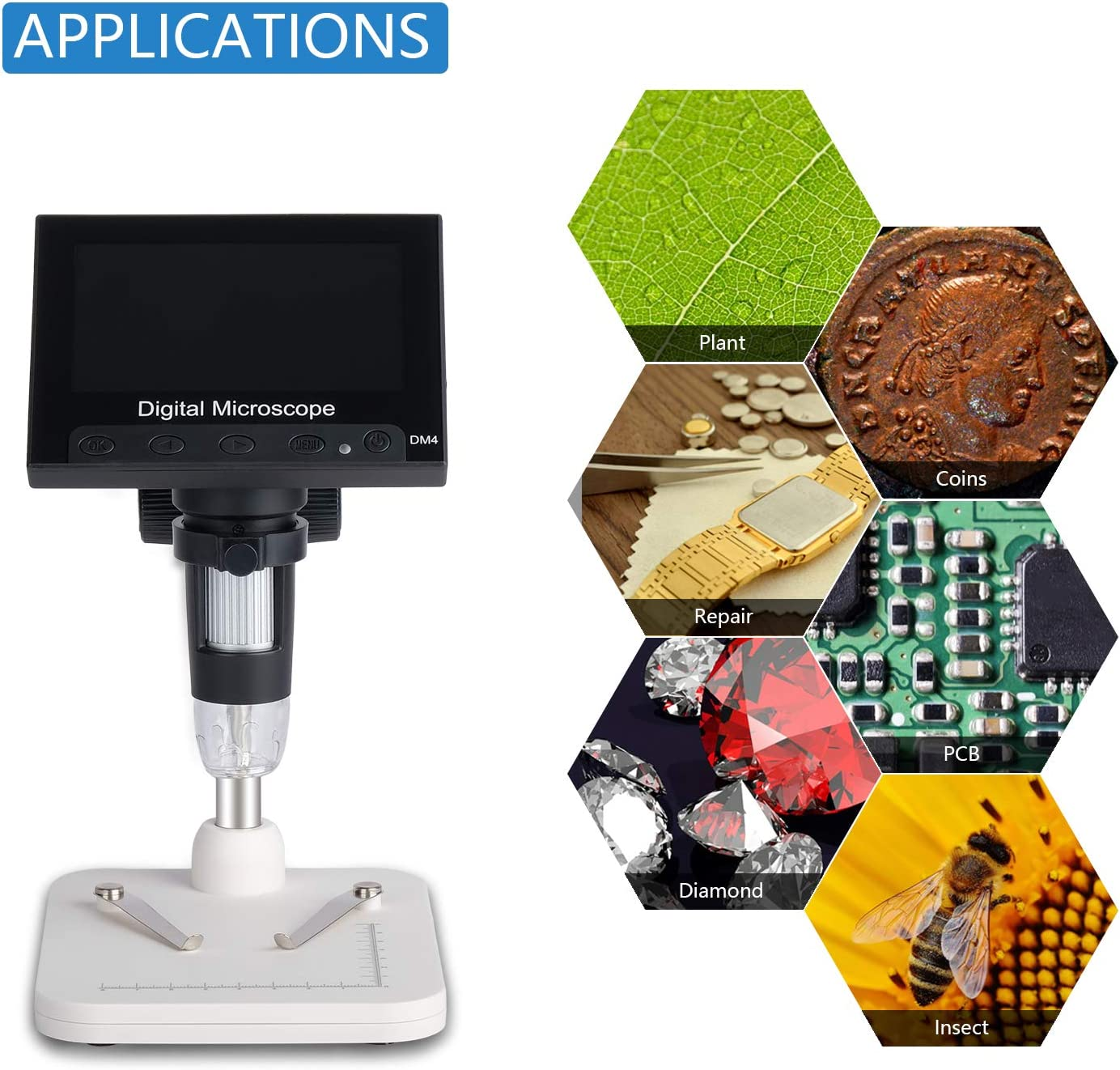 Camera & Photo USB Microscopes ESAKO 4.3 inch Digital Microscope ...