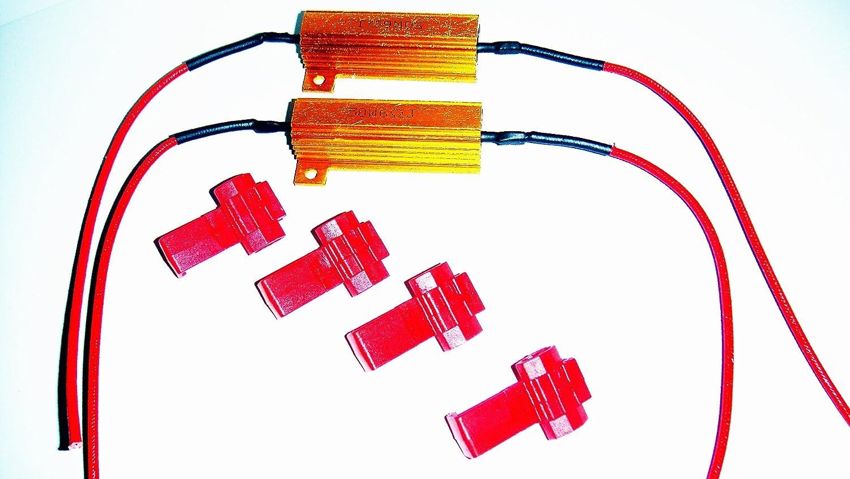 4x LED Lastwiderstand Widerstand 50W 6Ohm Canbus Tagfahrlicht Blinker KFZ 12V