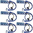 T-Module Updated PCI-E Express 1x to 16x Powered Riser Cables 0.6m USB3.0 SATA to Molex 6 Pin Kit Pack of 6, GPU Adapter Card Extender Cable Building Ethereum Mining Rig ETH Miner USB Extension Cable
