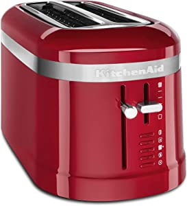 KitchenAid KMT5115ER 4 Slice Long Slot High-Lift Lever Toaster, Empire Red (RENEWED) CERTIFIED REFURBISHED