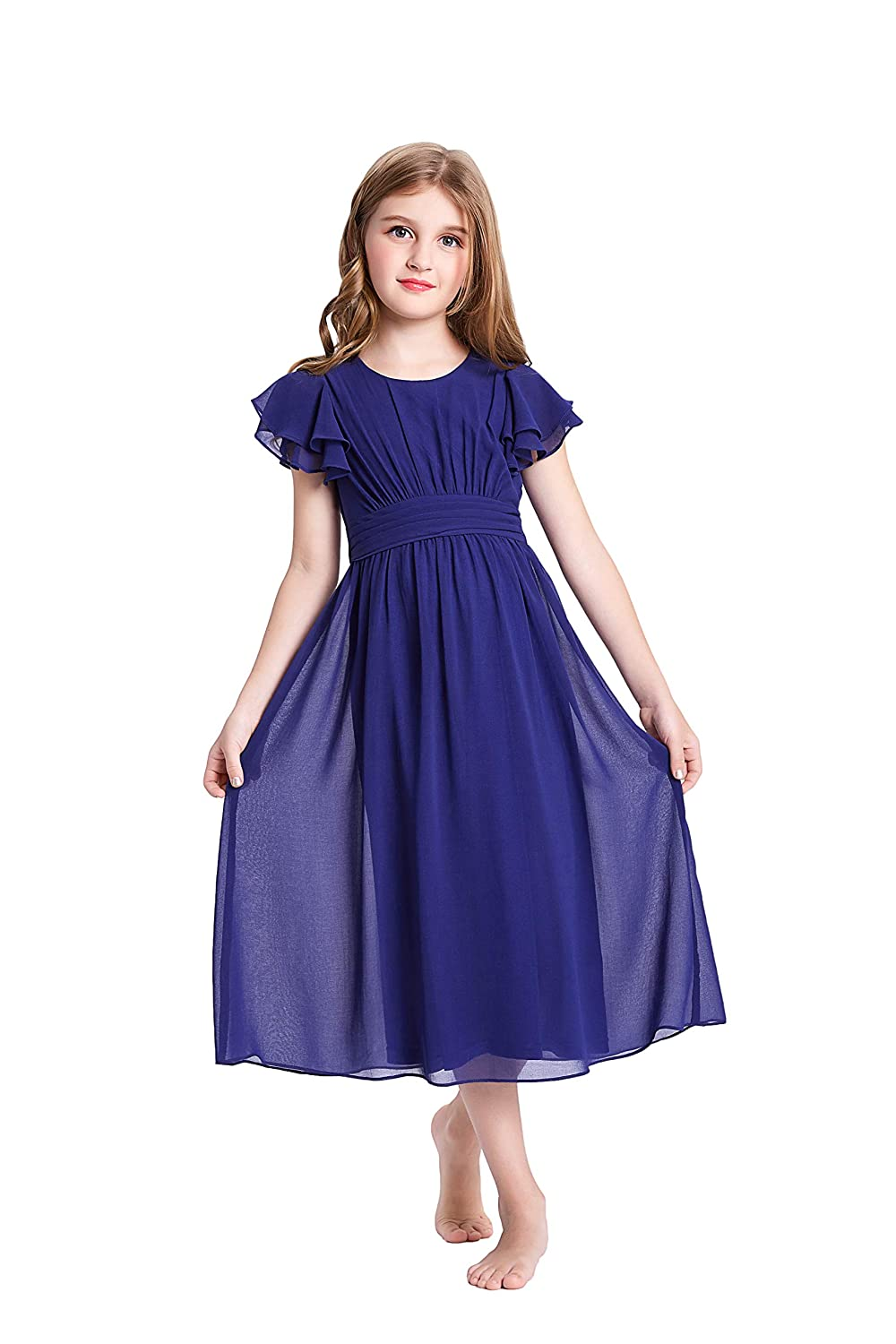 d4ba7b30b884 Amazon.com  GRACE KARIN Girls Short Sleeve Chiffon Dresses with ...
