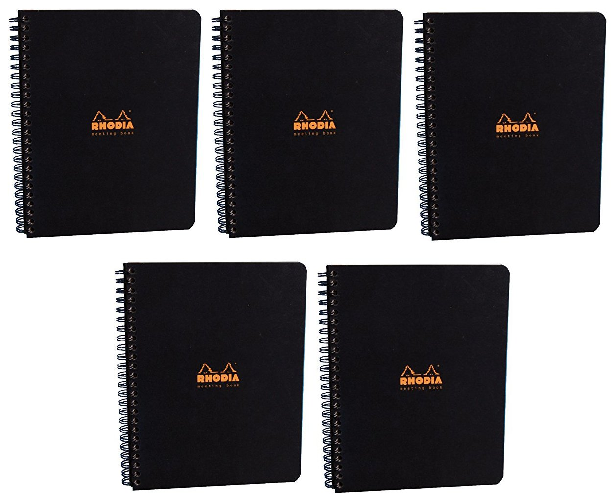 Pack of 5 Rhodia Side Spiralbound Large Meeting Book (6 X 8) by Rhodia