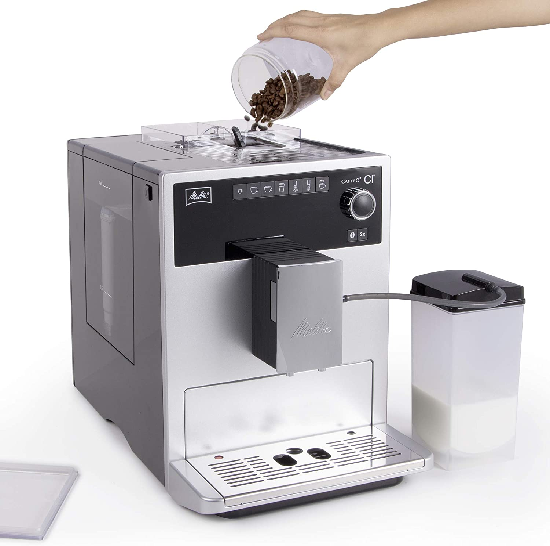 Melitta Caffeo CI Kaffeevollautomat, hat zwei Bohnenfächer