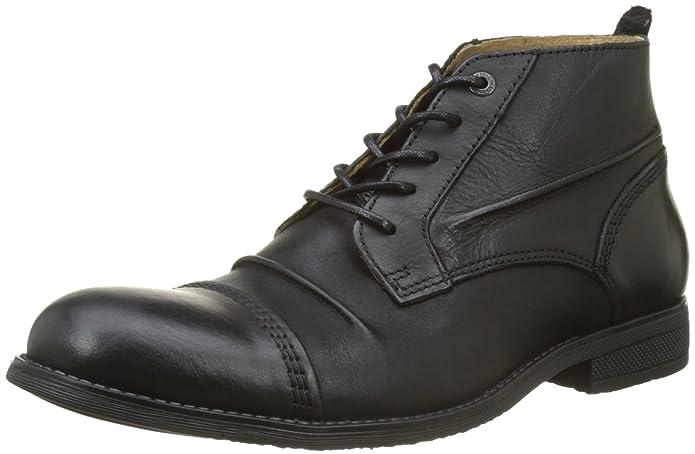 Jecho2 - Zapatos de cordones de cuero para hombre negro Noir (8 Noir) 45 Kickers fzTuk