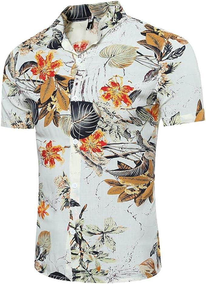 Xinxinyu Camiseta para Hombre, Hombres {Personalidad Camisa} {Delgado Jersey Sudadera Top} {Printed de Manga Corta Blusa té} (Color Blanco, M): Amazon.es: Hogar