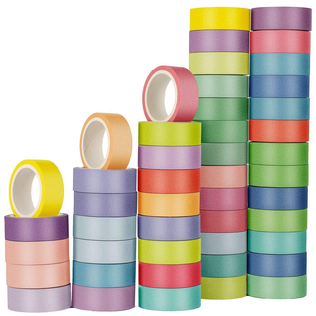 60 rollos cinta de papel con pegamento (1.5cm X 5m)
