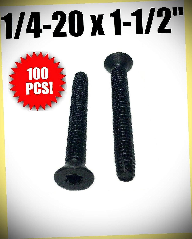 pcs Package of 100 1//4-20 x 1-1//2 Trailer Flooring Floorboard Screws Set #RD-1032FST Warranity by Pr-Mch