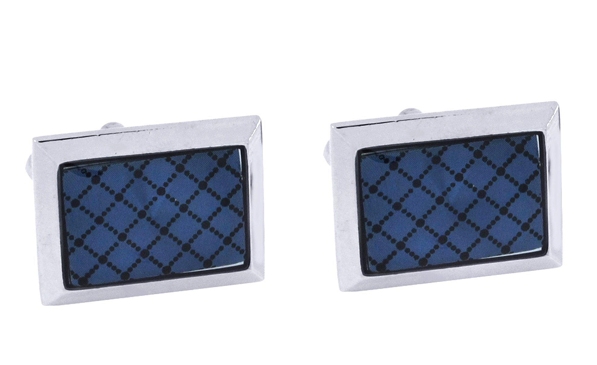 The Jewelbox Square & Black Triangle Stone American Diamond Cz Formal Shirt Blazer Suit Cufflinks of 2 Pair Men Gift Box by The Jewelbox (Image #4)