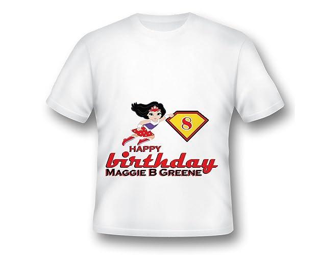 Personalize Super Hero Girl Tee Shirt Fun Custom