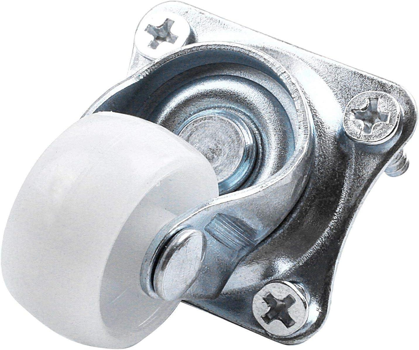 Nrpfall 4 unidades, rotaci/ón de 360 grados, 1 di/ámetro Carrito de ruedas