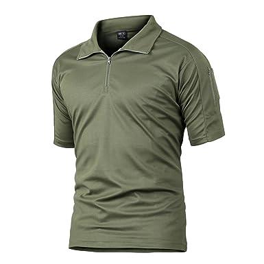 Camiseta de TACVASEN, de manga corta, de secado rápido, de estilo ...