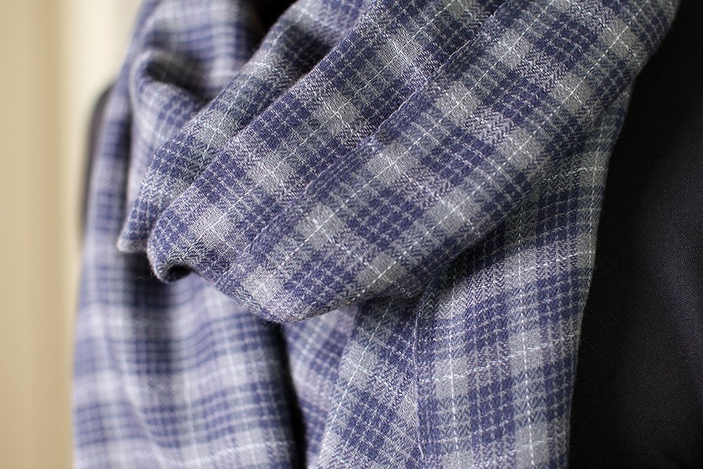 Anika Dali Men's Marco Check Plaid Scarf in Soft Wool with Tassels by Anika Dali (Image #5)