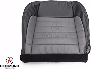 Passenger Side Bottom Leather Seat Cover Gray 2001 Ford F250 Platinum Edition