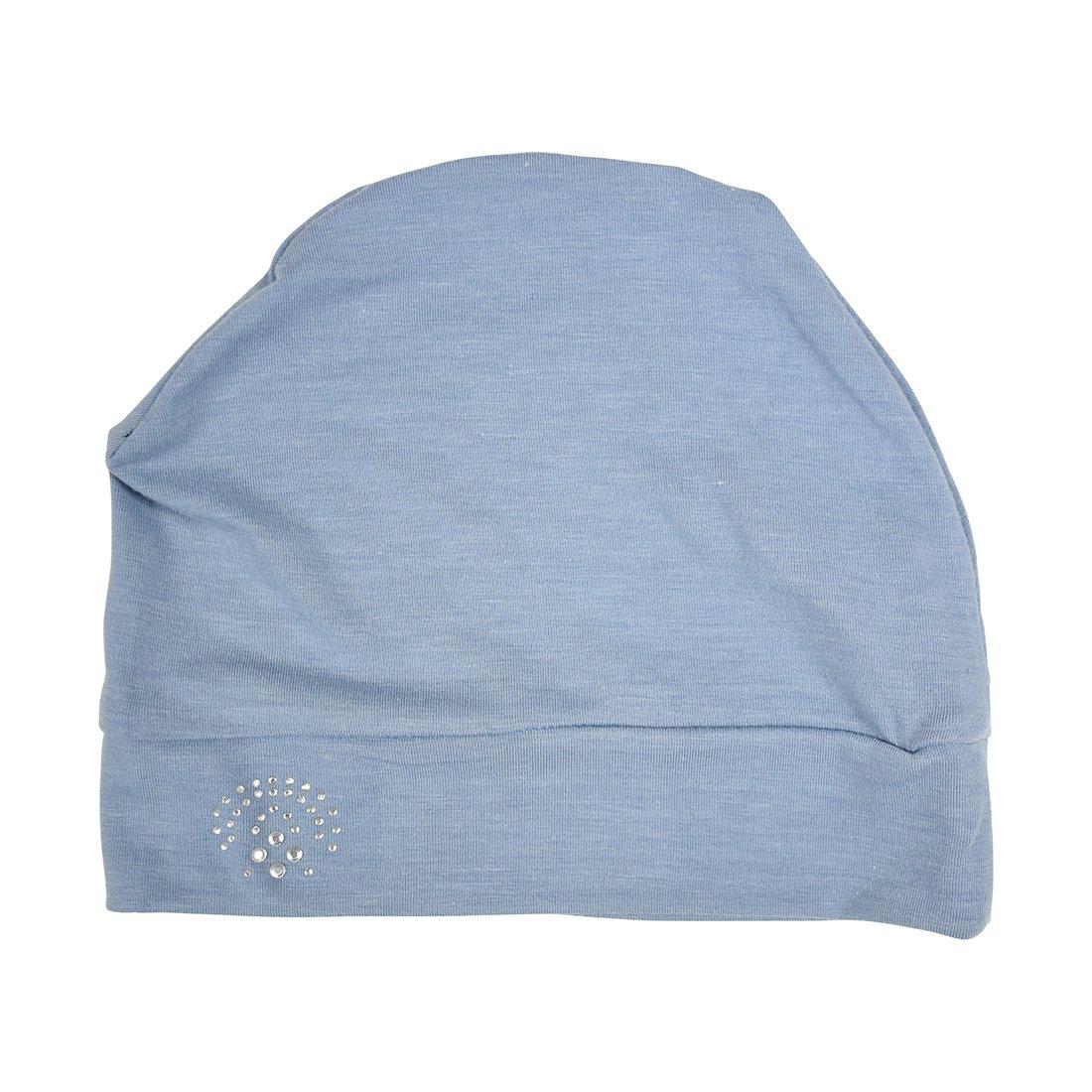 Landana Headscarves Chemo Sleep Cap Chemo Beanie with Oval Studs Cancer Hat lduc-black-a36