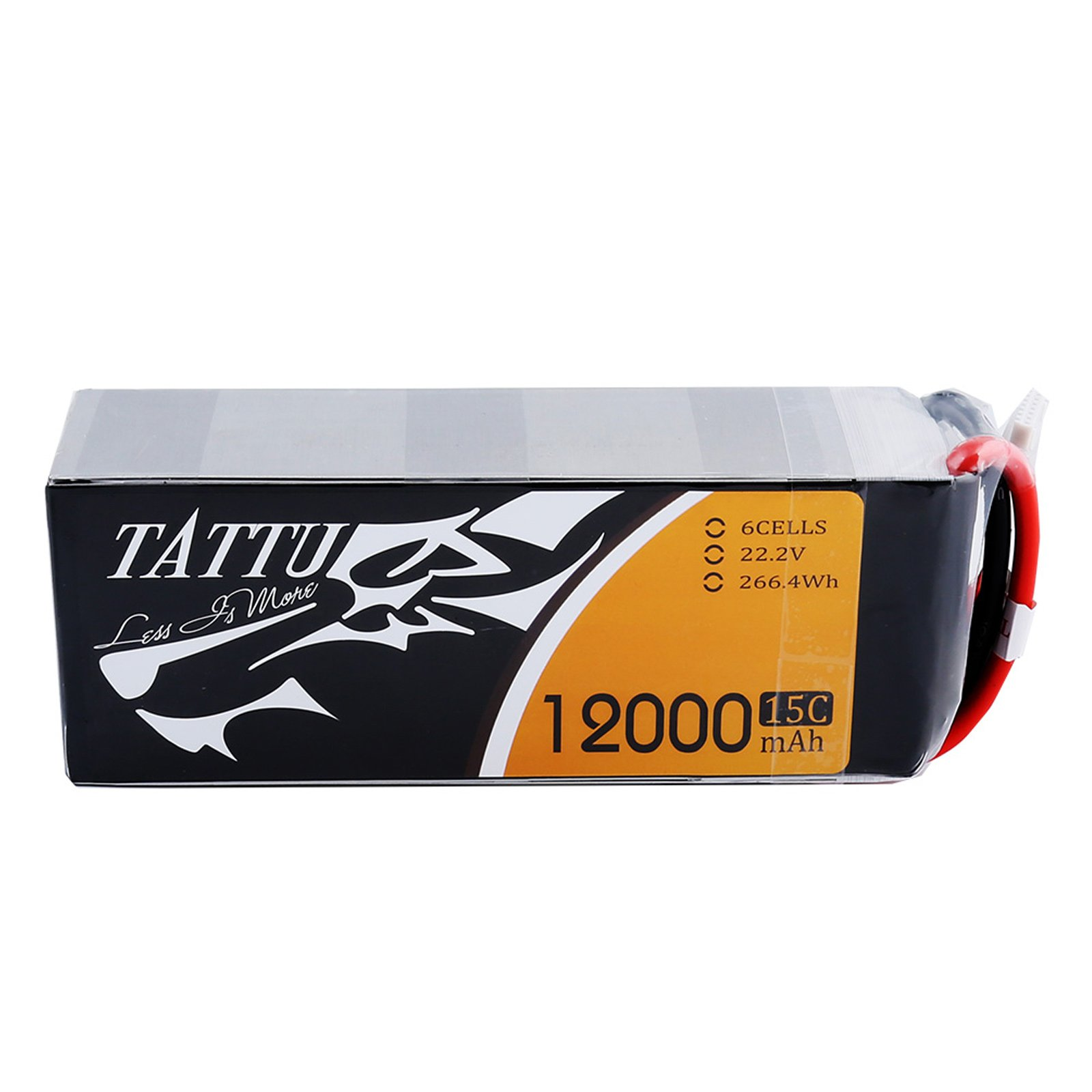 Tattu 12000mAh 6S1P 15C Lipo Battery Pack with EC5 Plug by Tattu