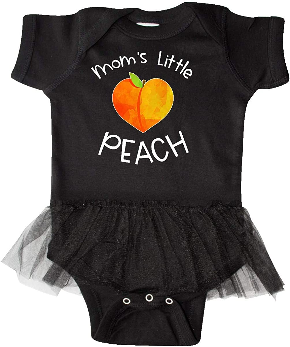 inktastic Moms Little Peach Cute Peach Heart Infant Tutu Bodysuit