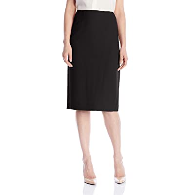 Kasper Women's Stretch Crepe Skimmer Skirt at Women's Clothing store