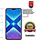 Doubledicestore Full Glue Tempered Glass Screen Protector for Honor 8X (Transparent) -Pack of 2